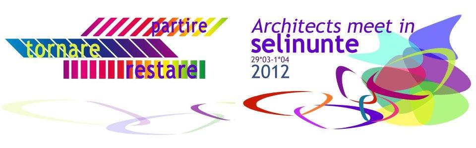 architects meet in Selinunte_partire tornare restare logo