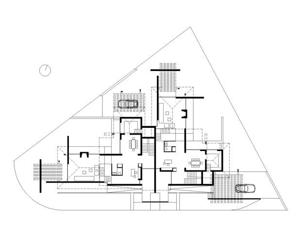 Architettura matassoni casa bifamiliare a montevarchi - Pianta casa bifamiliare ...
