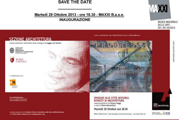 """""""Omaggio alle Città Invisibili. Ritratti di architettura"""": proiezione della videoinstallazione di Moreno Maggi al MAXXI B.a.s.e."""