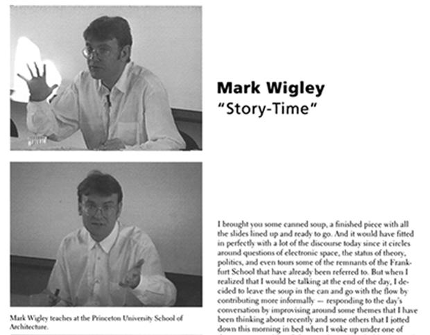 Mark Wigley_Story-Time