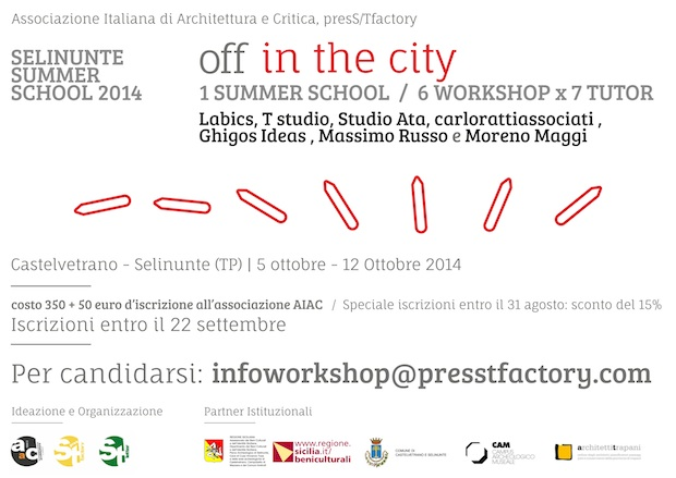 SELINUNTE SUMMER SCHOOL 2014 - Off in the City_intestazione sito_low
