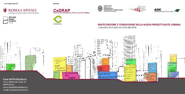 """Convegno: """"Partecipazione e condivisione nella nuova progettualità urbana"""""""