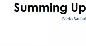 """SUMMING UP"" di Fabio Barilari: CATALOGO DELLA MOSTRA"