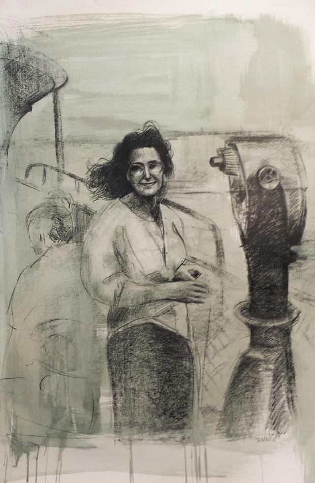 Annie - crayon e gouache su carta - mostra Interno 14 - Copia