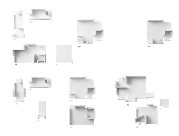 'Mondi di mondi '. Le stanze dei due alloggi nel modello dell 'immagine precedente