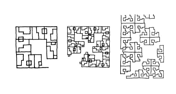 Belapur Housing (1983-86), teorie di mandala a scala urbana. Schizzi di C.C. courtesy Charles Correa Archive