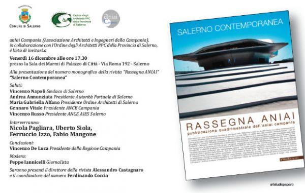 """Presentazione numero monografico """"Salerno Contemporanea"""" - Rivista Rassegna ANIAI"""